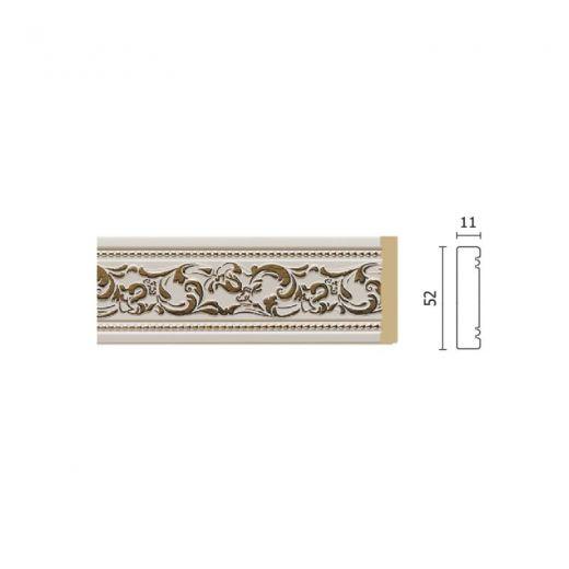 Decor-Dizayn Молдинг 156-115G средний золотистый