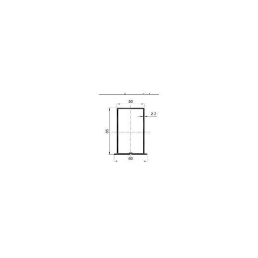 Комплектующие для фасадной доски MultiDeck H-профиль PDF-1044