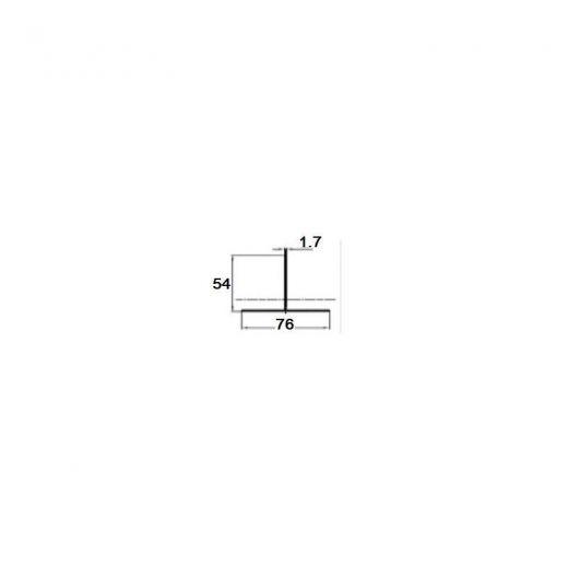 Комплектующие для фасадной доски MultiDeck T-профиль PDF-1021