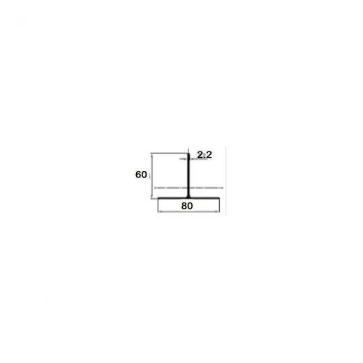 Комплектующие для фасадной доски MultiDeck  T-профиль PDF-1023
