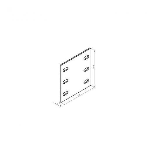 Комплектующие для фасадной доски MultiDeck Термоизолятор HL KDK-200